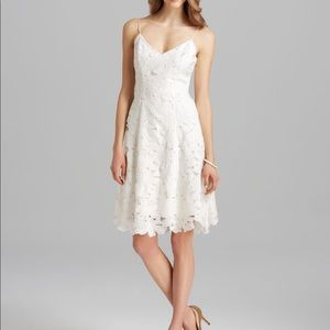 🆕 Vera Wang Cream embroidered cocktail Lace Dress